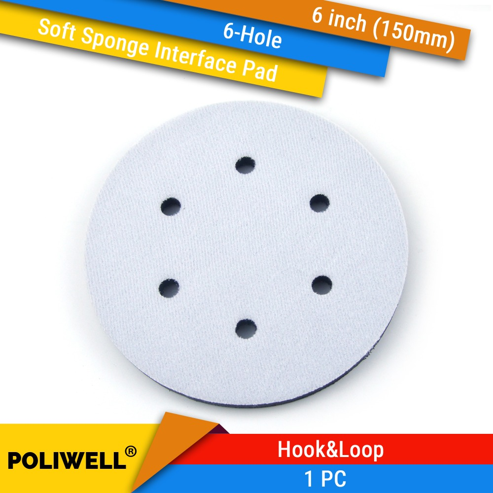 6 Inch(150mm) 6-Hole Soft Sponge Dust-free Interface Pad For 6