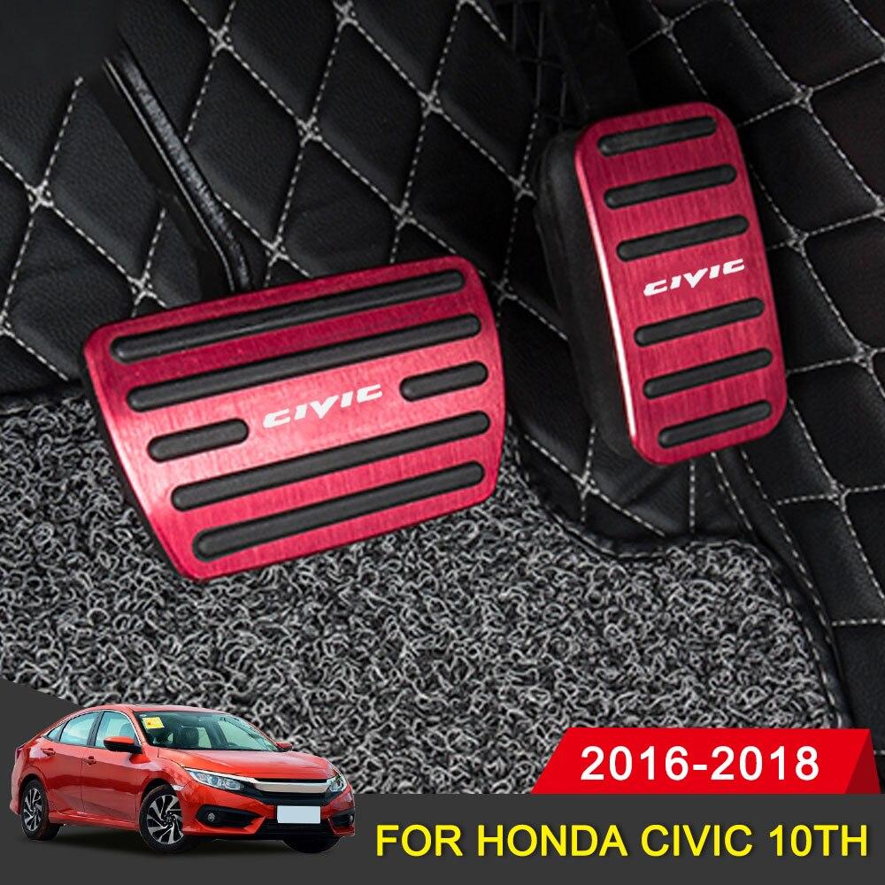 Para Honda Civic 10th 2016 2017 2018 Carro De Alumínio Gás Acelerador Placa pedal Do Freio Pedal Antiderrapante Pedal Pads Cubra Acessórios styling