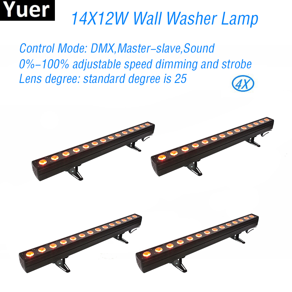 4Pcs/Lot New LED Wall Wash Light 14X12W RGBWA-UV 6IN1 Stage Effect Lights DJ Disco Wash Stage Lamp Party Show Wedding Lights4Pcs/Lot New LED Wall Wash Light 14X12W RGBWA-UV 6IN1 Stage Effect Lights DJ Disco Wash Stage Lamp Party Show Wedding Lights