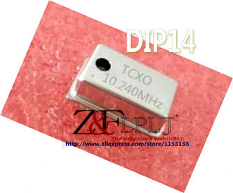 10.24 MHz 10.24M Crystal Oscillator Osc 5pcs 10.240MHz DIP 14