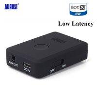 August MR230 aptX Low Latency Wireless Bluetooth 4.2 Audio Receiver 3.5mm Aux Bluetooth Audio Receiver Adapter for Car,Speakers