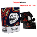 Original Wotofo The Troll RDA V2 Tank 10mm Deeper Deck Reverse Adjustable 510 Pin Electronic Cigarette Atomizer Tank