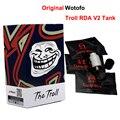 Original wotofo the troll rda v2 tanque 10mm mais profundo baralho reversa ajustável 510 pin cigarro eletrônico atomizador tanque