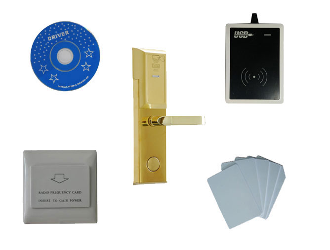 T57 card hotel lock system kit ,include T57 hotel lock, usb hotel encoder ,energy saving switch,T57 card, sn:8006 kit