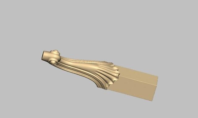 Furniture Sofa Cabinet Legs Pattern Design 3D Model STL Format File For Cnc  Router Carving Engraving