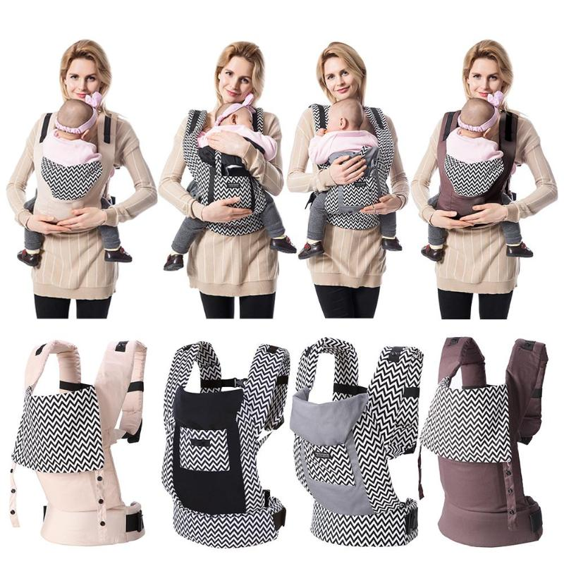 5-36M Newborn Baby Front Facing Carrier Infant Sling Backpack Back H-shape Kids Pouch Wrap Carrier With Large Storage Bag