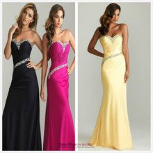 free shipping 2015 new design hot seller Long beautifly sweetheart dresses Fromal Evening Dress selena gomez evening gowns china
