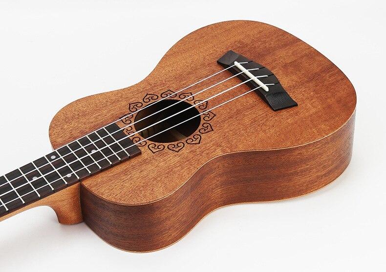 SevenAngel 21 pouces ukulélé acajou Soprano guitare de voyage Hawaii 4 cordes Ukelele électrique acoustique Gitar avec ramassage EQ - 3