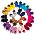 2017 Nueva Suede cuero de la pu Bebé Recién Nacido Infant Toddler zapatos de bebé Mocasines Blandos Mocc Bebe Suave Suela antideslizante Zapatos de Prewalker