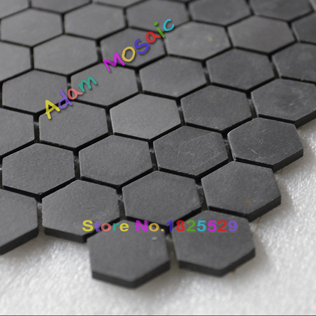 Hexagon Mosaic Tiles Black Matt Kitchen Wall Design Ceramic Subway  Backsplash Free Shipping