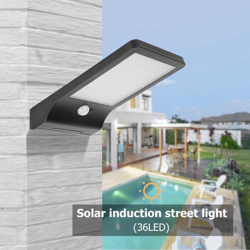 36LED Solar Motion Sensor Control Wall Light Outdoor Waterproof Garden Balcony Lamp Outdoor Porch Light Lamp Auto ON OFF