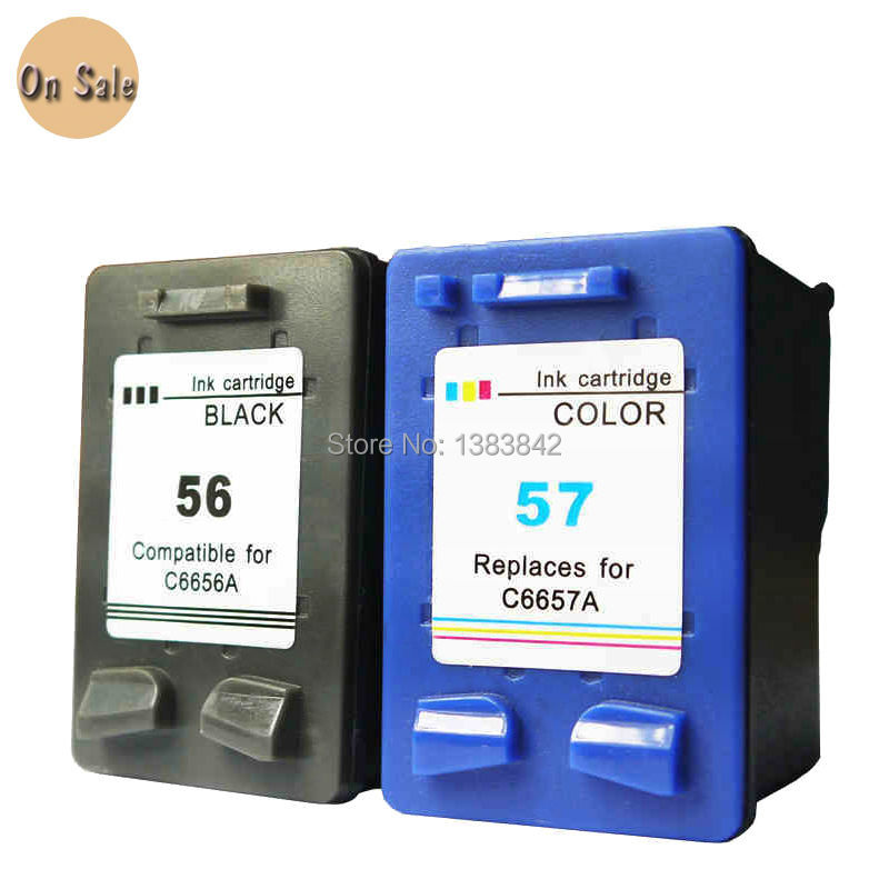 compatible for hp 56 57 ink cartridge for hp56 57 suitable 7150 7155 7260 7450 7550 7660 7760. Black Bedroom Furniture Sets. Home Design Ideas