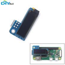 цена на DIYmall PiOLED I2C 0.91inch OLED 128x32 SSD1306 Blue for RPI Raspberry Pi 1, B+, Pi 2, Pi 3 and Pi Zero