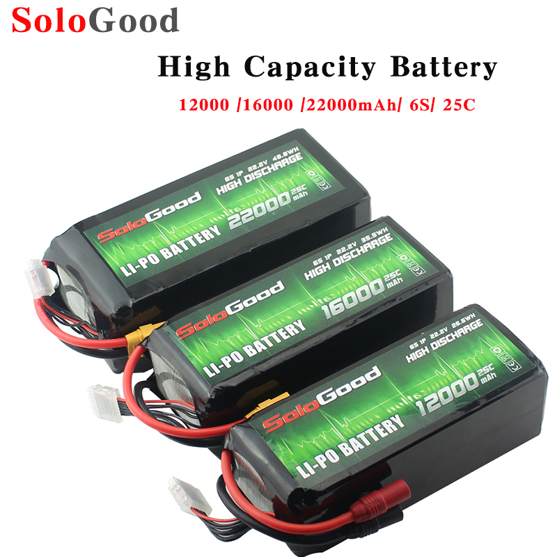 SoloGood 22000 16000 12000 MAH 22.2V 6S lithium batteries for aircraft model large capacity plant protection UAV image