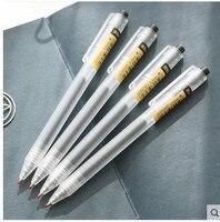 12pcs Set Wholesale Student Plastic Pen School Office Writing Stationery 0 5 Mm Translucence Plastic Scrub