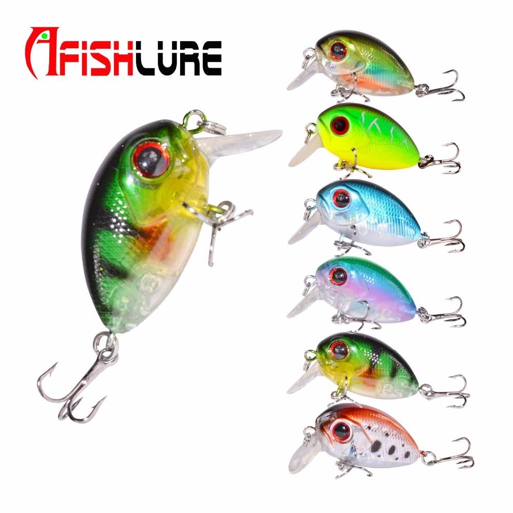 Mini Crank 36mm 3.5g Fishing Lure Hard Bait Fishing Tackle with BKK Hooks Multicolor Solid fishing lures Balik hard pedal small mini water fishing