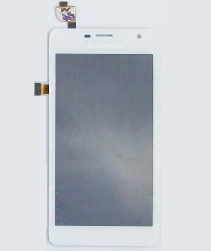 ФОТО 100% Original Complata for Lenovo K860 K860i LCD Display +K860 K860i touch screen Touch Screen Glass -White free shipping