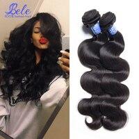 Bele Virgin Hair 4 Bundles Brazilian Body Wave Human Hair Weave Unprocessed 7a Brazilian Virgin Hair Body Wave Natural Black