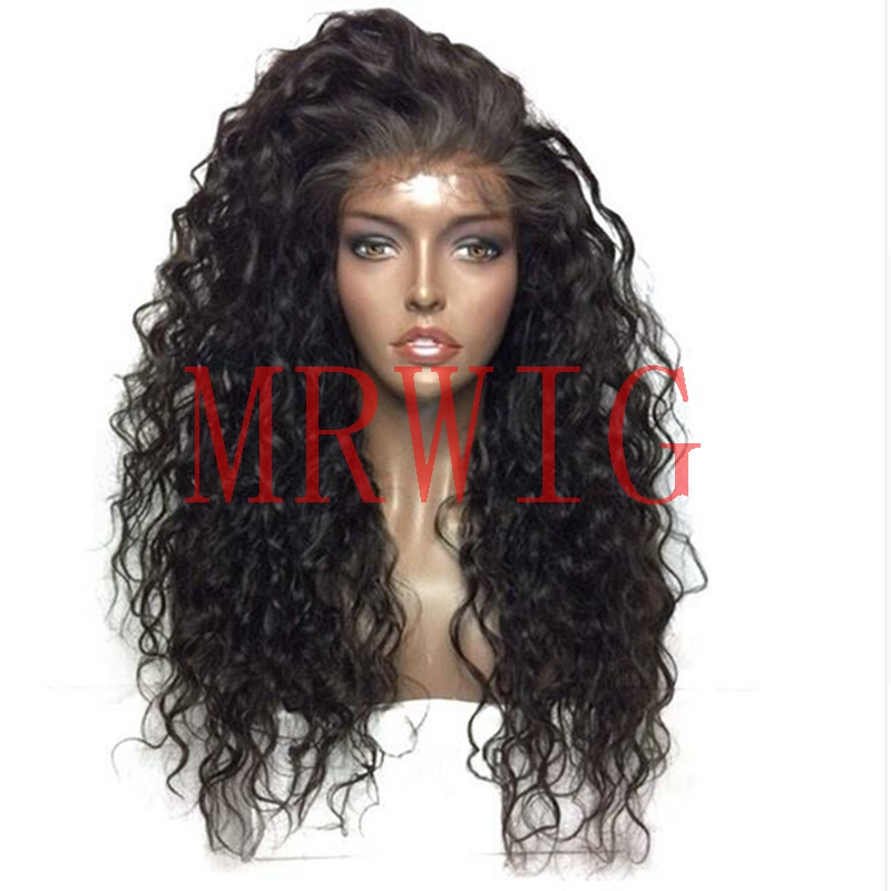 MRWIG 22inch real hair afro kinky curly synthetic front lace wig free part 1b# ombre medium grey short dark roots high density