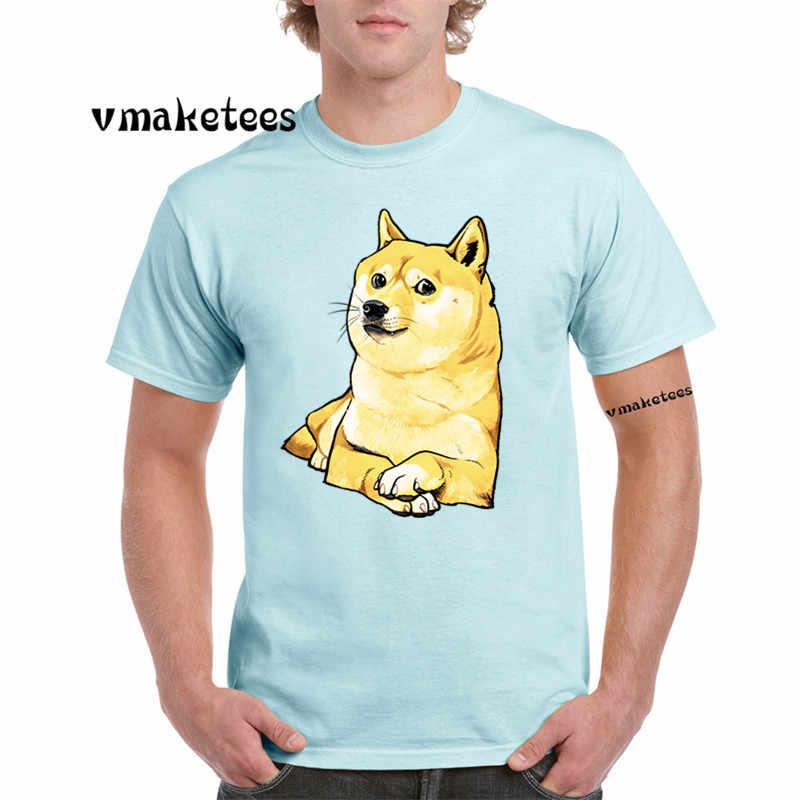 Men Print Thug Doge Deus God Dog shiba Inu T-shirt O-Neck harajuku fitness funny Tshirt GMT412