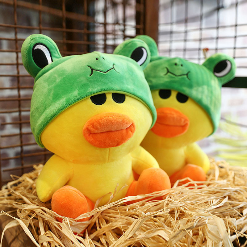35CM Cute Soft Duck Frog Doll Baby Stuffed Animals Duckling Plush Kids Toy Children Bed Decoration Babies Plush Birthday Gifts super cute plush toy dog doll as a christmas gift for children s home decoration 20