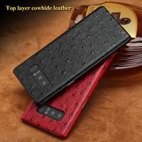 Luxury brand phone case ostrich grain half wrapped phone case For Samsung Note 8 phone case full handmade custom processing