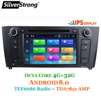 SilverStrong OctaCore Car DVD for BMW Android8.0 E81 E82 E88 2004 2011 1 Series with 32GB ROM Radio chip TEF6686 Amp IC TDA7851