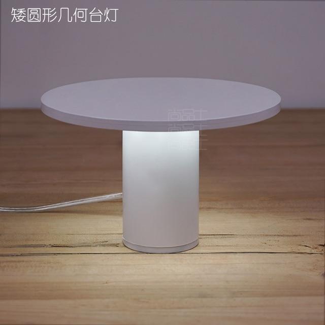 Novel Art Solid 3D circular Bedroom Bedside Table Lamps LED Table Lamp 220V Desk Lights decor  Eye Protection Reading Light 12cm