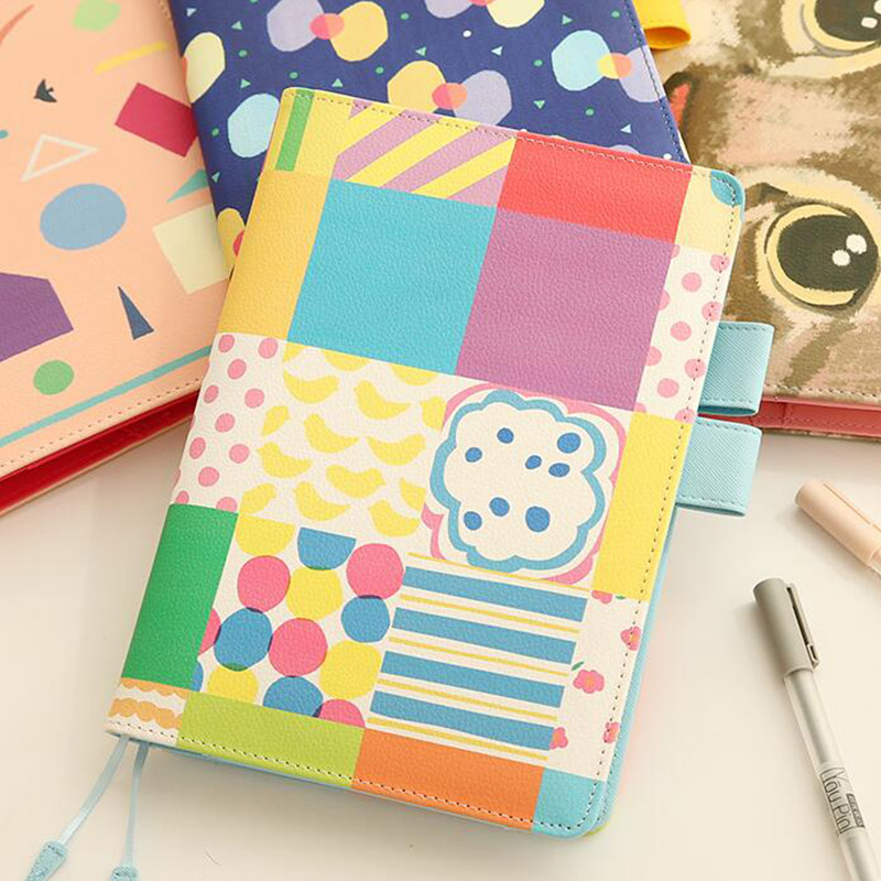 2017 Flower leather A5 notebook diary agenda notebook weekly planner writing memo pads book stationery office school supplies a5 secret diary book restoring vintage notepad high end notebook notebook agenda journal school office student stationery supply