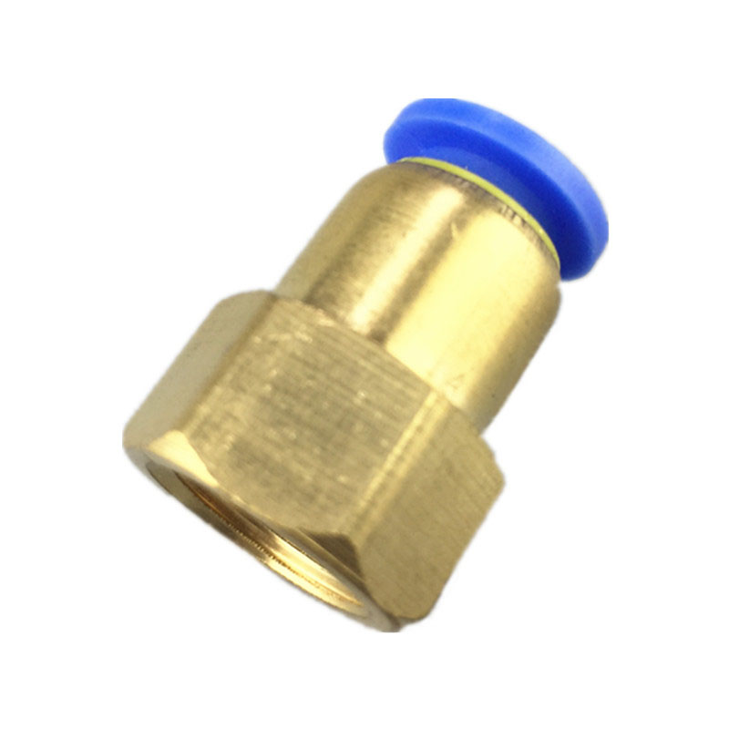 10PCS Pneumatic connector Internal thread straight pipe fitting 1/8 1/4 quick push in joint 6mm 8mm PCF6-02 PCF8-01 air pneumatic 6mm od hose tube push into 1 4pt 1 8 3 8 1 2bspt m5 female thread gas quick brass joint connector fitting