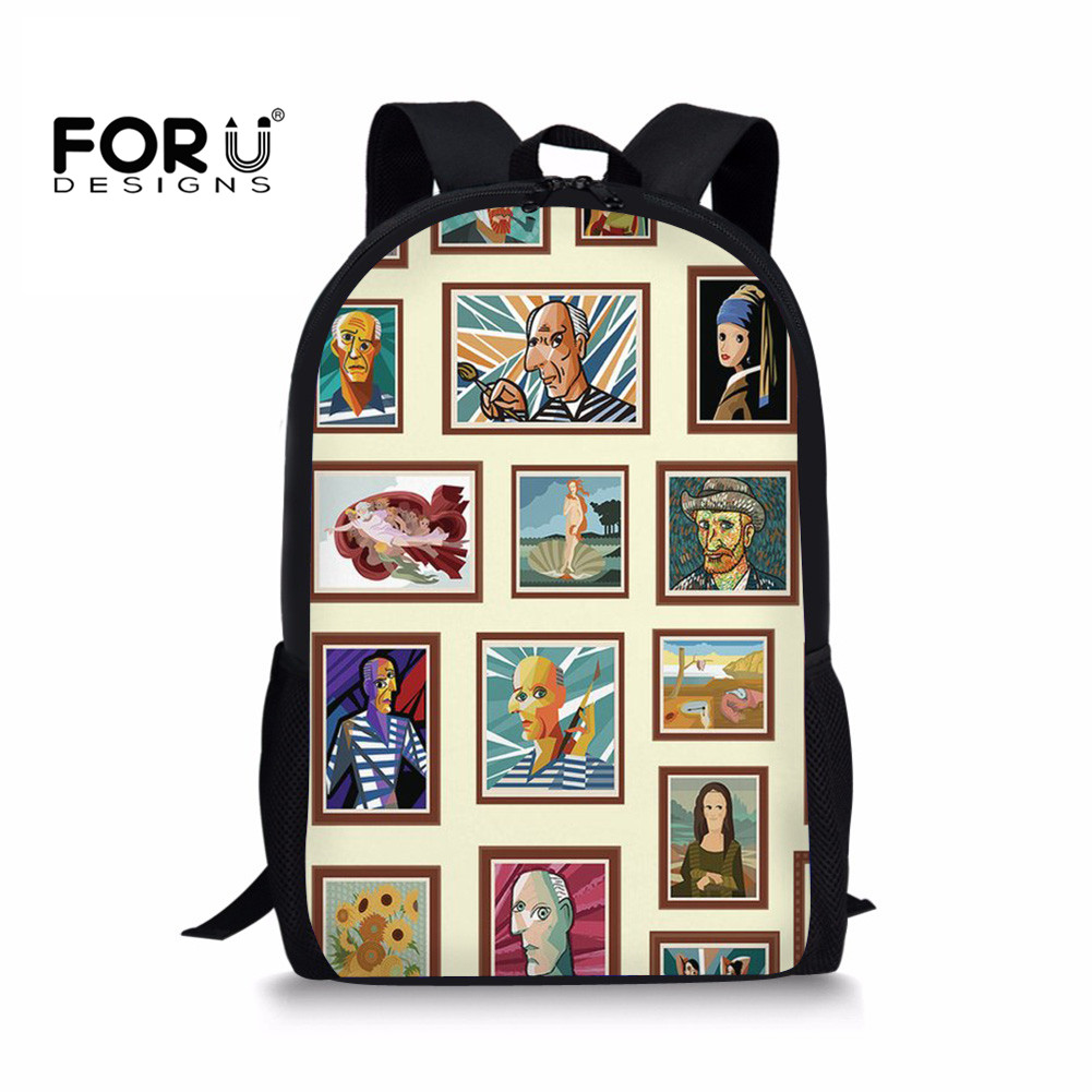 FORUDESIGNS Newest School Bags for Children Teenager Boys and Girls Notebook Backpack Kids Pre Schoolbags Student Book Bag