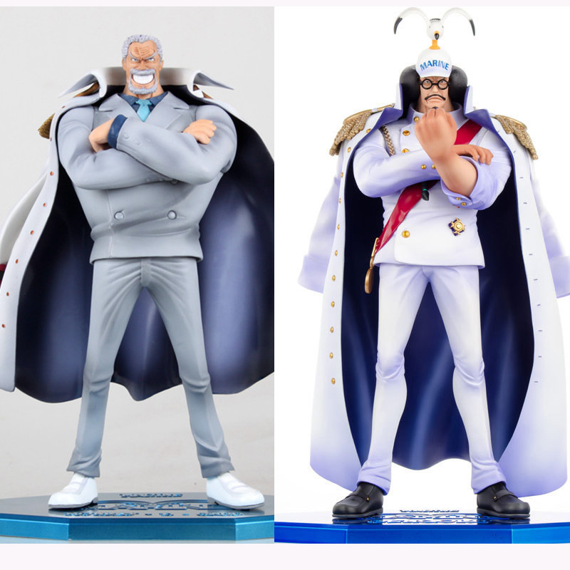 Anime One Piece Figures Vice Admiral Luffy grandpa Monkey D Garp and Sengoku marshal PVC Action Figure Collection Model Toys my grandpa