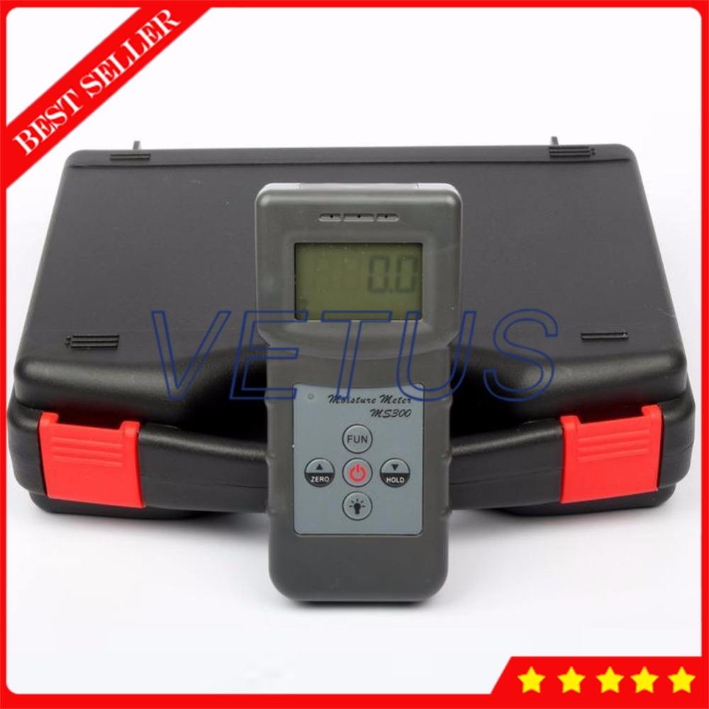 0-70% MS300 Portable Concrete Moisture Meter for measuring wood timber bamboo tester detector Moisture Content Testing Equipment mc 7806 wood moisture meter detector tester thermometer paper 50% wood to soil pin