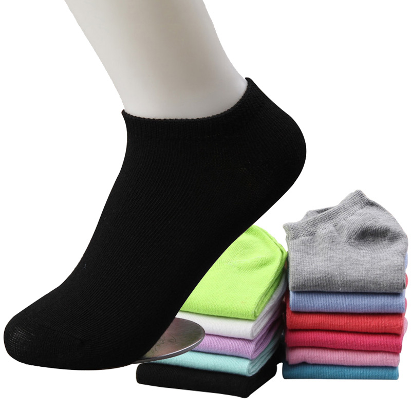 5 Pairs New Brand Girl Female Lady   Socks   For Women's   Socks   Cute   Socks   Short Ankle Women's   Socks   Ok Cotton Opp Bag No Retail Tag