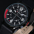 2016 новый люксовый бренд мода для мужчин часы мужские кварцевые авто дата часы человек кожаный ремешок свободного покроя наручные часы