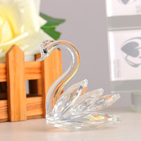 Top Crystal 3inch Clear Swan Figurines Paperweight Crafts Art Collection Table Car Festificial Ornaments Home Wedding