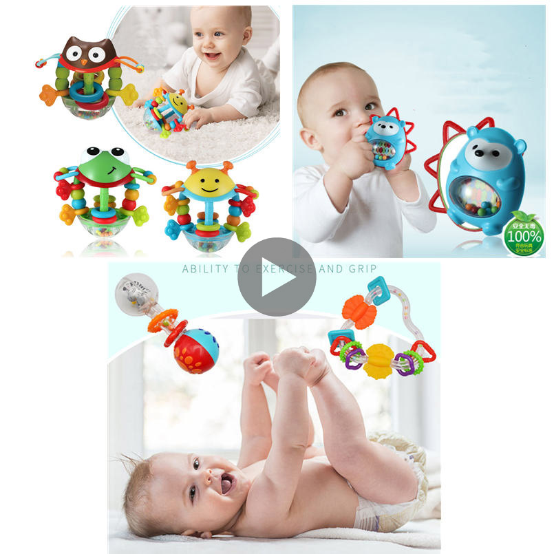 Rattles Baby Toys 0-12 Months Animals Frog Toys For Children Early Educational Hand Bell Infant Music/mobile Toy