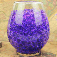 100PCS Transparent Color on sale Crystal Mud Soil Water Beads Bio Gel Ball For Flower Home Ornament Plant Cultivate Decoration