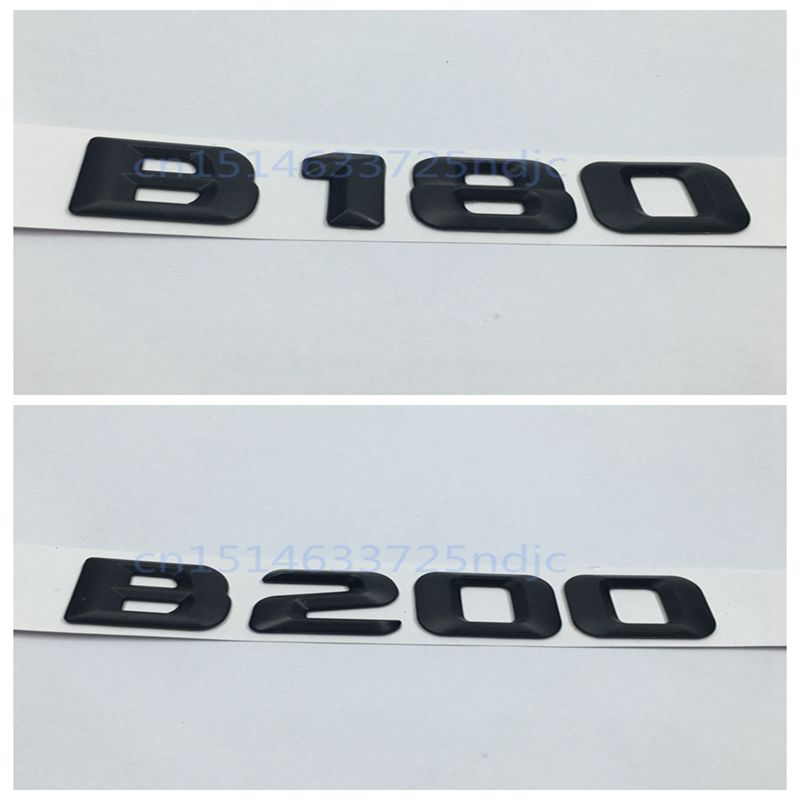 Black <font><b>B</b></font> <font><b>180</b></font> <font><b>B</b></font> 200 Rear Trunk Logo Badge Emblem Number Letters Decal for <font><b>Mercedes</b></font> Benz B180 B200 AMG W242 W246 image