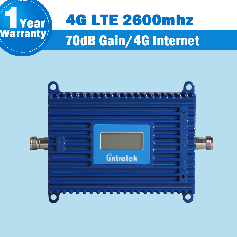 4G LTE 2600mhz Mobile Phone Signal Booster LCD Display 70dB Litratek 4G LTE 2600mhz Cell Phone Amplifier Repeater Repetidor S26