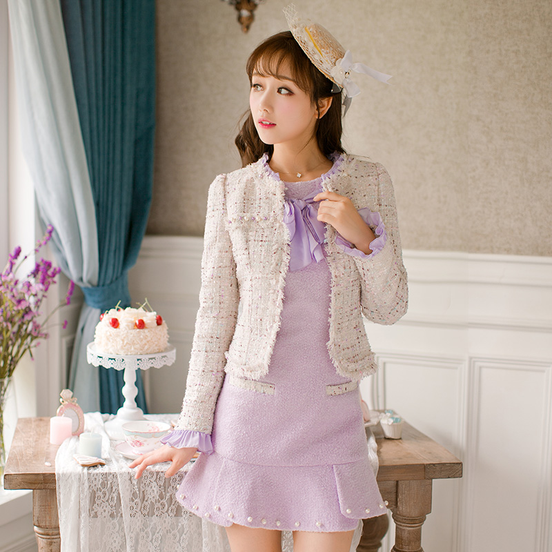Princess sweet lolita white coat Candy rain Mature Light luxury style Nail bead Special decoration Japanese