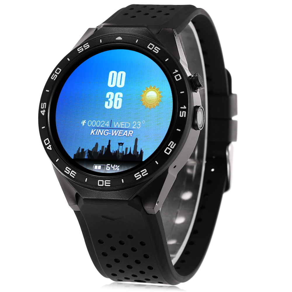 KingWear KW88 Android 5.1 1.39 inch Amoled Screen 3G Smartwatch Phone CPU MTK6580 Quad Core 1.39GHz GPS Gravity Sensor Pedometer