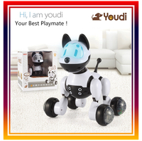 2015 New Intelligent Electronic Pet Toy Robot Dog Lovely Dogs Flashing Pets Kids Walking Puppy Action