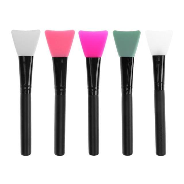 1 unid silicona maquillaje Facial cepillos de madera mango cepillo cara cosméticos herramienta maquillaje cepillo silicona belleza herramienta