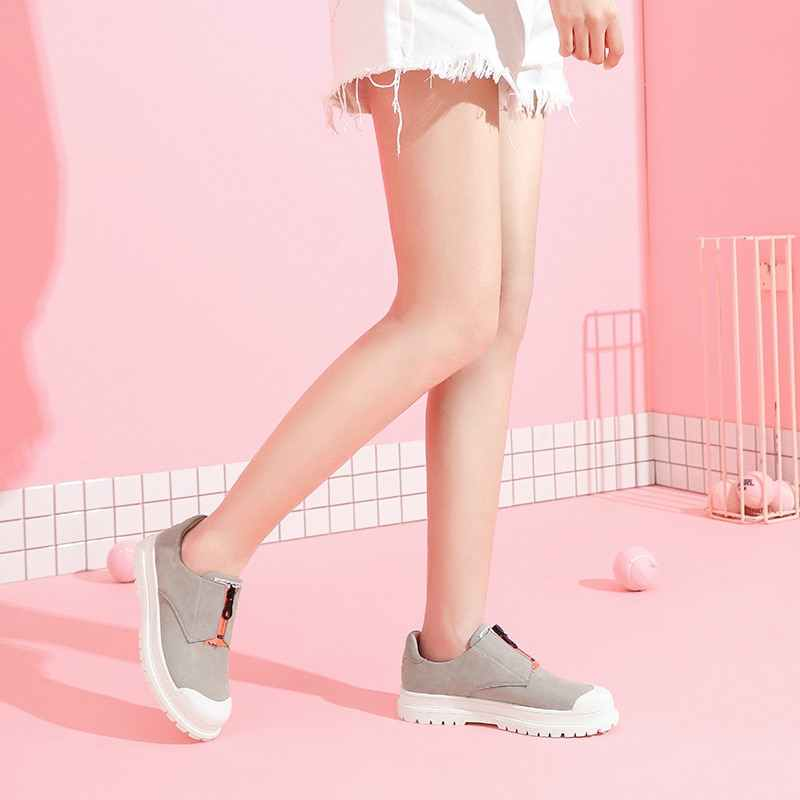 LẠC ĐÀ của Phụ Nữ Giày Thời Trang Mới Dụng Cụ Thấp Trắng Phong Cách Người Anh Mặc-Chống mài mòn Chống trượt Nữ Giày Thường