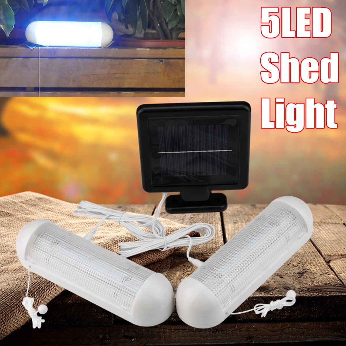2PCS Solar Power 5LED IP55 Shed Light Wall Indoor Pull Lamp Corridor Yard Garage цена 2017