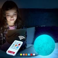 Rechargeable LED Night Light 7 Color Change 3D Moon Lamp Remote Touch Switch creative bracket children kid adult Home Decor gift