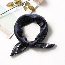Summer Silk Scarf Women 70*70 cm Small Squares Head Kerchief Neck Shawl Little Dot Print Wrap Fashion Decorative Scarves