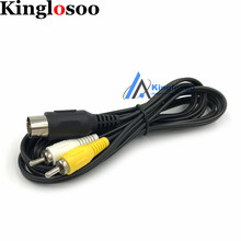 1.8M A/V cable for Drive MD1 for Master System 1 RCA Phono AV Video Lead Cable for Sega Mega Drive Console(China)
