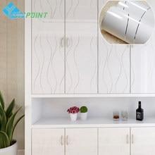 Białe faliste linie DIY folie dekoracyjne wodoodporny pvc samoprzylepne tapety do kuchni szafka naklejki do renowacji mebli